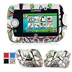 MoKo LeapPad 3 Case - Premium Leather Dual-angle Carrying Case Slim Folding Cover with Kickstand for LeapFrog LeapPad 3 Kids' 5-Inch Learning Tablet, Lucky TREE