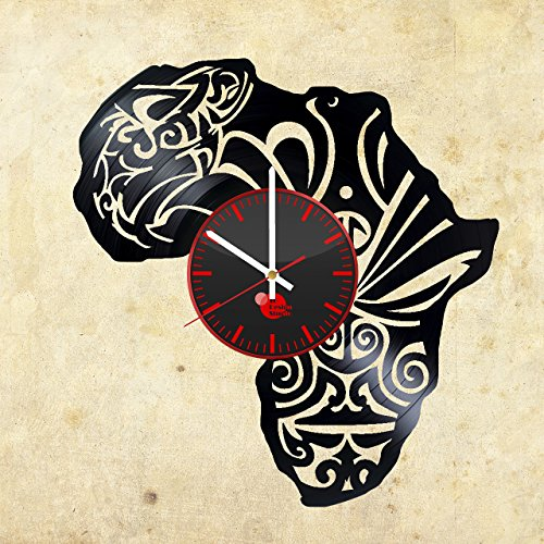 Africa-Art-Work-HANDMADE-Vinyl-Record-Wall-Clock-Get-unique-home-wall-decor-Gift-ideas-for-his-and-her-Continents-of-the-World-Unique-Art-Design-Leave-us-a-feedback-and-win-your-custom-clock