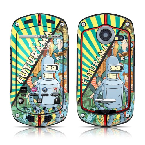 Bender Design Protective Decal Skin Sticker (High Gloss Coating) For Casio G'Zone Commando C771 Cell Phone front-539265
