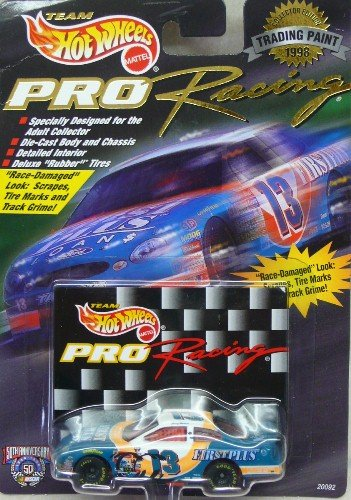 Hot Wheels - Pro Racing - NASCAR - 1998 - Trading Paint - Jerry Nadeau - No. 13 First Plus Ford Taurus - 1:64 Scale Die Cast Replica Car and Collector Card