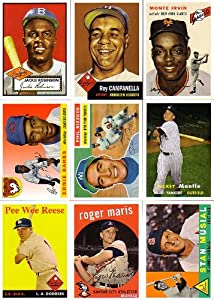 "2011 Topps Baseball 60 Years of Topps Series #1 Complete Mint 59 Card Insert Set Resembling Previous ""Archives"" and 2010 ""The Cards Your Mother Threw Out"" with Reprints of the More Popular Topps Rookie and Star Cards From 1952 Through 2010 Including Jackie Robinson, Mickey Mantle, Roger Maris, Stan Musial, Tom Seaver, Nolan Ryan, Alex Rodriguez, Albert Pujols and More!"