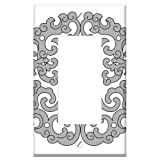 Switch Plate Single Rocker/GFCI - Chinese Traditional Pattern Ssangyong Holding Tho