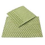 JaipurSe Block Printed Set Of Six Green Cotton Table Napkins