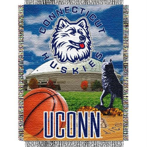 NCAA Connecticut Huskies 48-Inch-by-60-Inch Woven Jacquard Home Field Advantage Throw