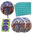 Descendants Birthday Party Supplies Set Plates Napkins & Balloon Kit for 16 Plus Stickers
