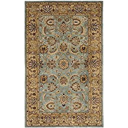 Safavieh Heritage Collection HG958A Handmade Blue and Gold Wool Area Rug, 4 feet by 6 feet (4\' x 6\')