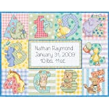 Dimensions Counted Cross Stitch Kit, Zoo Alphabet Birth Record