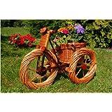 Dreirad aus Korbgeflecht (Weide)++Pflanzhilfe