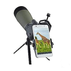 Cell Phone Adapter Mount - Tiaoyeer Cellphone Smartphone Quick Photography Adapter Mount Compatible Binocular Monocular Spotting Scope Telescope Micro