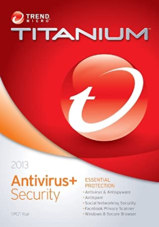 Trend Micro Titanium Anti-Virus 2013 1-User