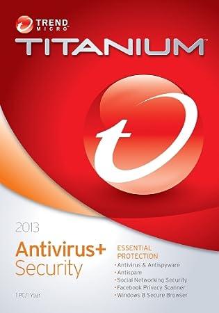 Trend Micro Titanium Anti-Virus 2013 1-User