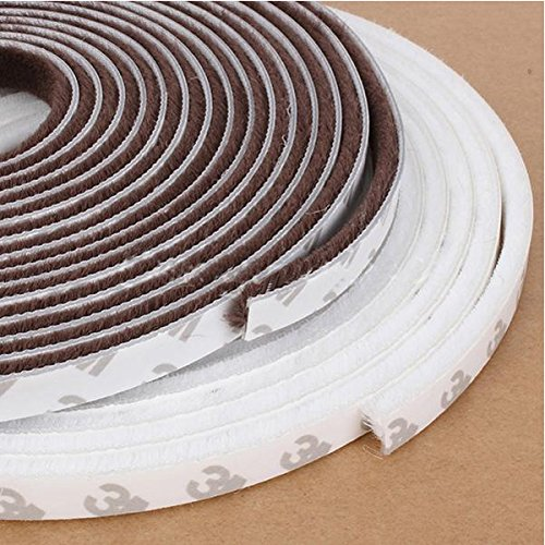 5M Window Door Self Adhesive Draught Excluder Brush Pile Seal. (Window Brush Seal compare prices)