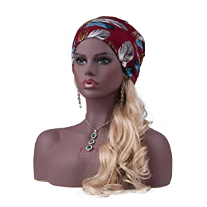 L7 Mannequin Black Realistic Mannequin Manikin Head bust with Partial Cheat for Wigs, Hats, Sunglasses