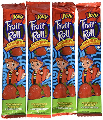 0.75oz Jovy Fruit Roll Snack, Strawberry (4 Packets Per Order) (Jovy Fruit Rolls compare prices)