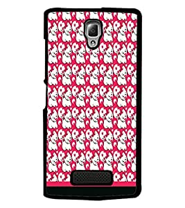 PrintDhaba Kitty pattern D-1781 Back Case Cover for LENOVO A2010 (Multi-Coloured)