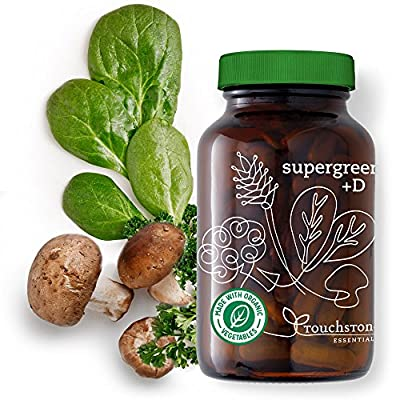 Supergreens +D - Organic & Vegan Vitamin D (2000 IUs), Superfoods, 5 Billion Probiotics, Digestive Enzymes - Gut Health, Immunity, Digestion (30-Day Supply)