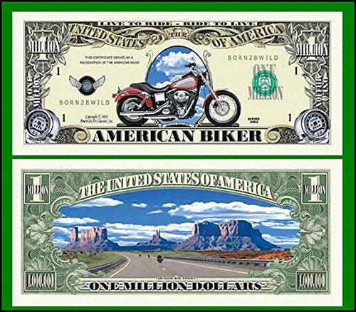 American Biker Million Dollar Bill in Currency Holder - 1