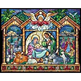 Stained Glass Nativity Jigsaw Puzzle 1000 Piece