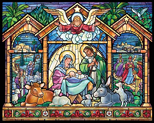 Stained Glass Nativity Jigsaw Puzzle 1000 Piece
