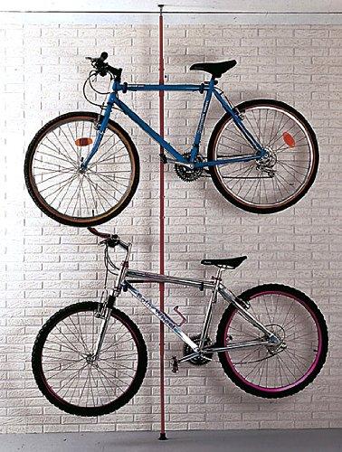 Mottez soporte de suelo para 2 bicicleta hasta el techo for Soporte para bicicletas suelo