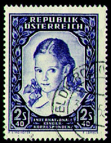 Briefmarken Österreich Nr. 976 gestempelt Mädchenkopf 1952