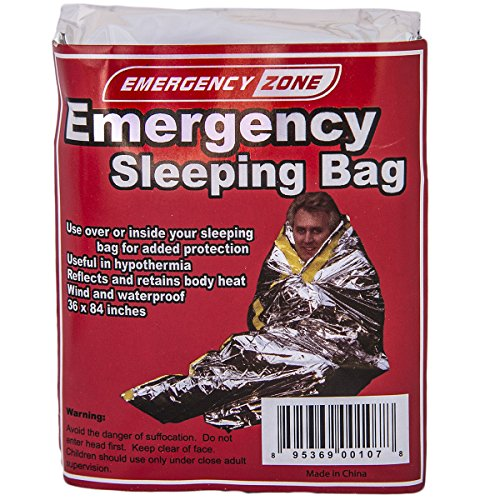 Emergency Sleeping Bag, Survival Bag, Emergency Zone Brand, Reflective Blanket