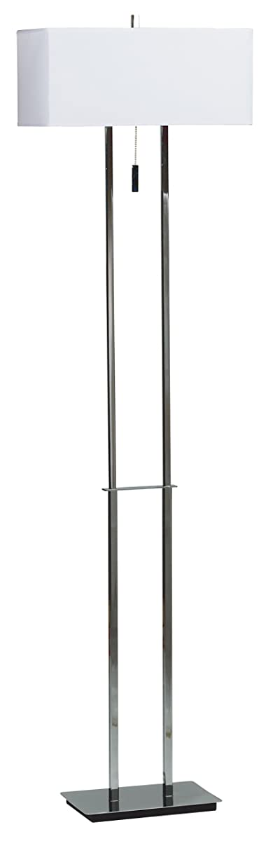 Kenroy Home 30817CH Emilio Floor Lamp, Chrome