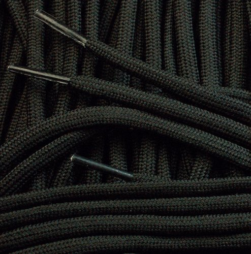round cord 4mm x 240cm Black Extra Long Boot Laces
