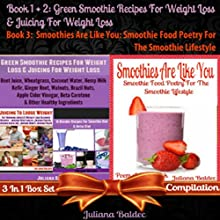 Best Green Smoothie Recipes for Weight Loss & Juicing for Weight Loss + Smoothies Are like You: Smoothie Food Poetry for the Smoothie Lifestyle - Poem a Day Book (       UNABRIDGED) by Juliana Baldec Narrated by Karlin Tessier