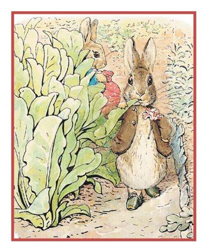 Benjamin Bunny Nibbles Lettuce Inspired By Beatrix Potter
