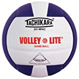 Tachikara Institutional quality Composite VolleyBall, Purple-White