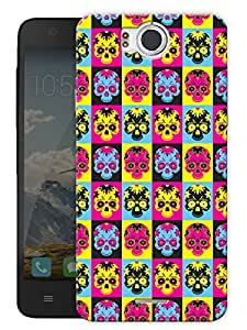 "Trippy Skulls Printed Designer Mobile Back Cover For ""Google Infocus M530"" By Humor Gang (3D, Matte Finish, Premium Quality, Protective Snap On Slim Hard Phone Case, Multi Color)"