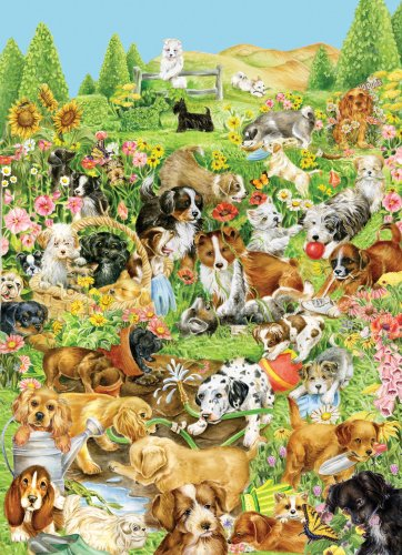 Picture of Great American Canine Pals - 1000 Piece Jigsaw Puzzle (B00204KTVO) (Jigsaw Puzzles)