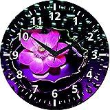 MeSleep Flower Wall Clock With Glass Top