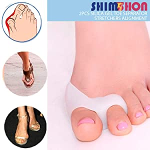 Bunion Corrector & Bunion Pain Relief Kit - Gel Bunion Pads & Sleeve, Toe Separators Spacers Straighteners for Men and Women-Hallux Valgus, Hammer Toe, Big Toe Joint (Tamaño: A)
