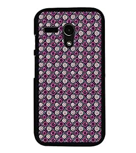 Fuson Premium 2D Back Case Cover Circle pattern With Pink Background Degined For Motoroal Moto G Turbo Edition