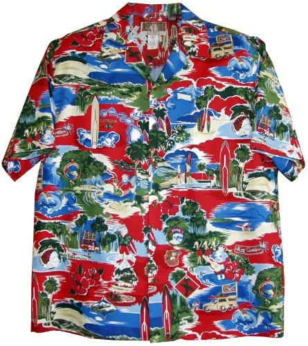 Mens Christmas Hawaiian Style Shirt