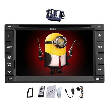 FM / AM 6.2 '' 2DIN HD tš¢ctil en el tablero de DVD de coche de la pantalla Pas de GPS Reproductor de CD de coche en el tablero de coches Radio VCD Reproductor De Video Bluetooth EstšŠreo Marco RDS Accesorio libre de la Cš