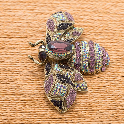 Vintage Style Rhinestone Crystal Bug Bee Brooch Pin Animal Broach Pins Jewelry 6608 4