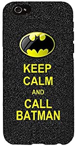 Snoogg Keep Calm and Call Batman Case Cover For Apple Iphone 6 iphone 6