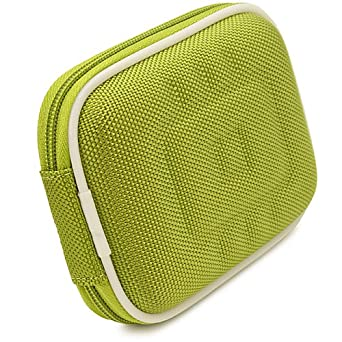 VG Compact (M) Travel Edition Semi Hard Case w/ Removable Carbineer (Green Nylon) for Samsung WB800F / WB250F / WB30F / ST150F / WB150F / ST200F / WB850F / WB750 / PL210 / WB210 / WB700 / PL200 / TL350 / WB2000 / AQ100 / WP10 / HZ35W / WB650 / HZ30W / WB600 / TL210 / PL150 / TL205 / PL100 / CL80 / S
