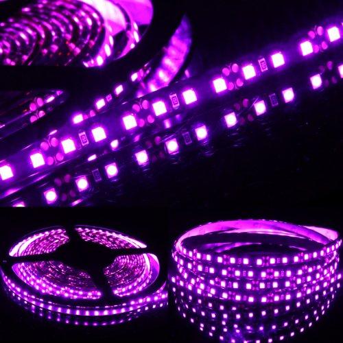 5M 16 Ft Roll 3528 Smd Led 600 Leds Waterproof Flexible Light Strip - Pink