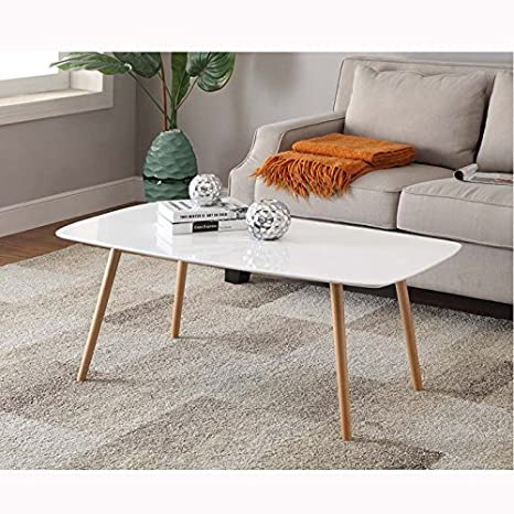 Convenience Concepts Oslo Coffee Table, White by Convenience Concepts