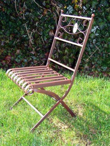 Gartendekoration, Metallstuhl, Deko-Gartenstuhl aus Metall