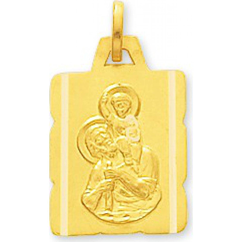 Gold Damen Anhänger Motiv Heiliger Christophorus, rechteckig, mit Paris-Pergament Murat bestellen
