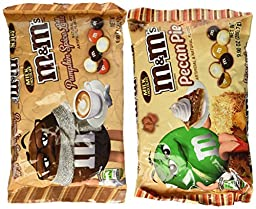 M&Ms Pumpkin Spice Latte and Pecan pie 9.9oz Bags - 1 of Each