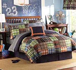 teen boys twin comforter set 10 piece room in a bag bed in a bag