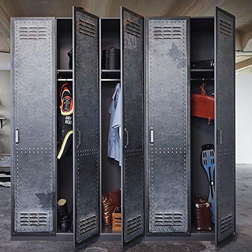 kleiderschrank industrial optik b 225 cm schrank dreht renschrank kinderzimmer jugendzimmer. Black Bedroom Furniture Sets. Home Design Ideas