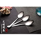 OGYA 3 Count High Quality Stainless Steel Spoons Household Utensils More Large Size Light Handle Long Hotel Tableware Spoons