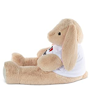 Vermont Teddy Bear Large Stuffed Bunny - Bunny Stuffed Animals, Custom, Jumbo, 4 Foot (Color: I Love You Bunny)